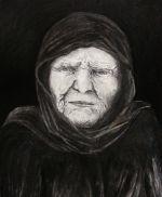 Human<BR>Blyant,kul, aquarell på bomuldspapir<br>41*50 cm<br>2015<br>1800 kr